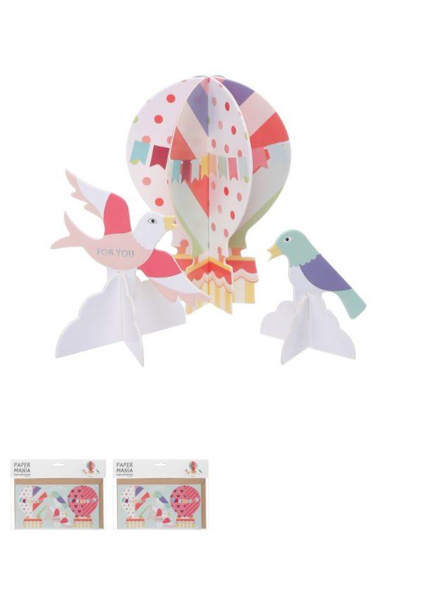 Carte de voeux DIY (hot air ballon)