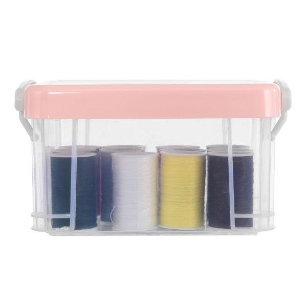 Boîte de couture 12 couleurs (rose)