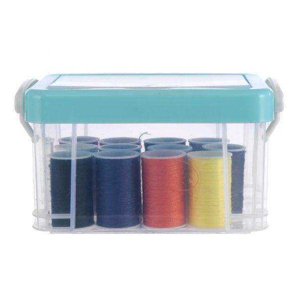 Boîte de couture 12 couleurs (bleu)